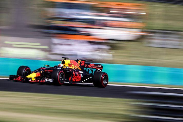 Daniel Ricciardo á æfingu í dag.