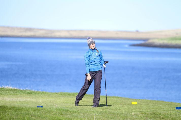 Guðrún Brá Björgvinsdóttir er með forystuna í Mosfellsbæ.