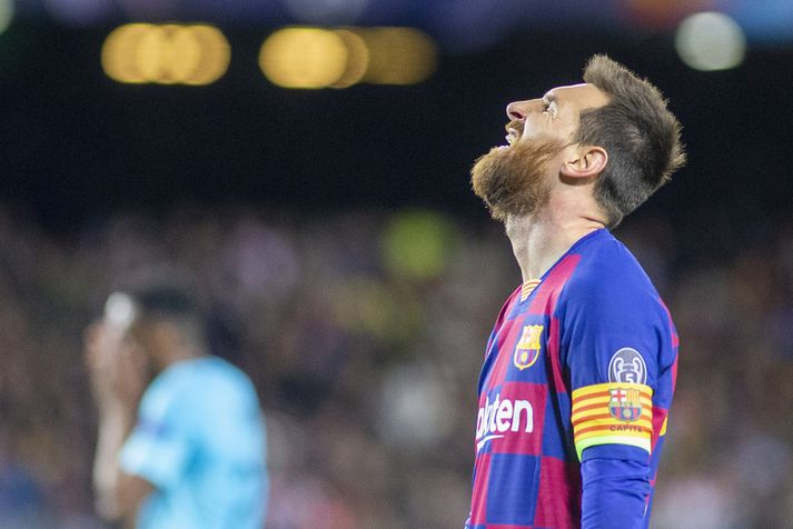 Lionel Messi var nokkrum sinnum nálægt því að skora.