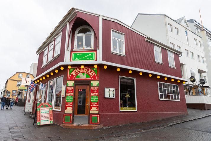Einn eigenda Priksins er með skrifstofu við Ingólfsstræti þar sem brotist var inn í nótt.