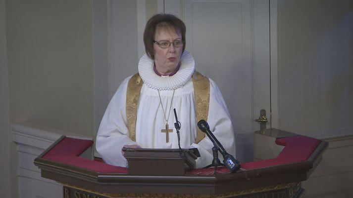 Agnes M. Sigurðardóttir biskup predikaði í Dómkirkjunni í dag.