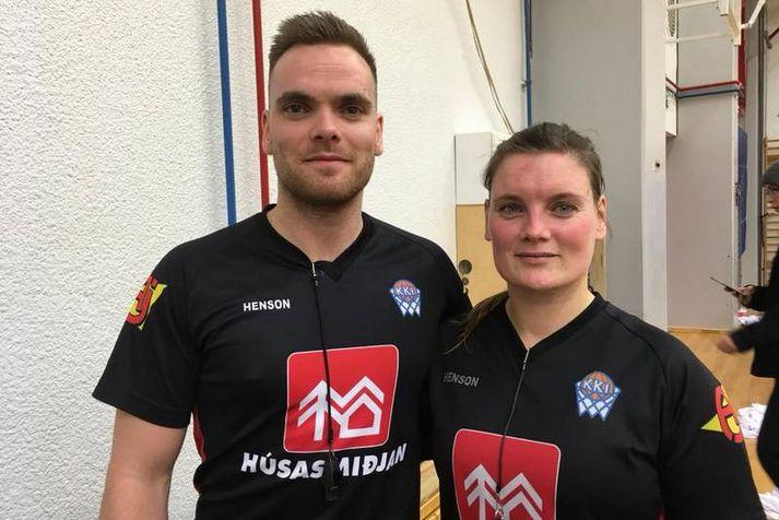 Davíð Tómas Tómasson og Georgia Olga Kristiansen.