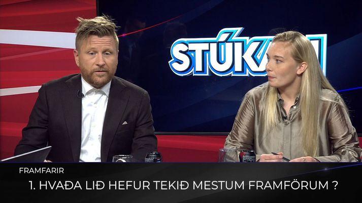 Þorkell Máni og Margrét Lára, sérfræðingar Pepsi Max Stúkunnar, fara yfir málin.