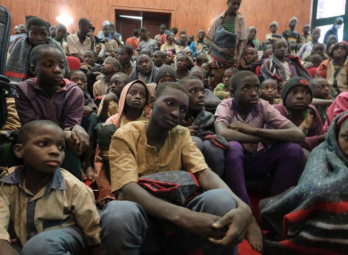Boko Haram slepptu um 300 drengjum í desember sl. eftir að hafa rænt þeim úr skóla í Kankara í Nígeríu.