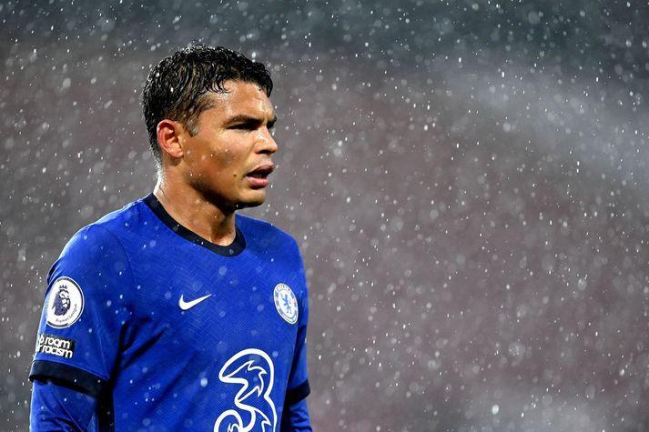 Thiago Silva í leik með Chelsea á móti Manchester United um síðustu helgi.