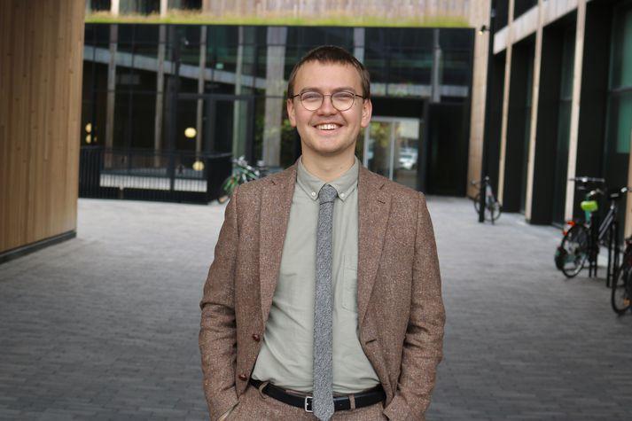 Sindri Freyr Ásgeirsson, námsmaður og meðstjórnandi í Samtökum um bíllausan lífsstíl.