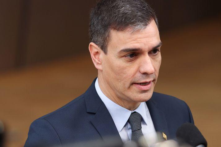 Pedro Sanchez hefur verið forsætisráðherra frá árinu 2018.