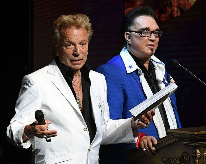 Siegfried Fischbacher og Roy Horn árið 2016.
