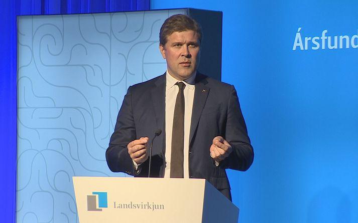 Bjarni Benediktsson fjármálaráðherra á ársfundi Landsvirkjunar.
