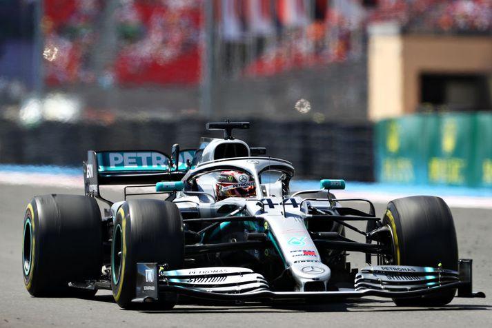Lewis Hamilton getur orðið sigursælasti ökuþór í sögu breska kappakstursins um helgina.