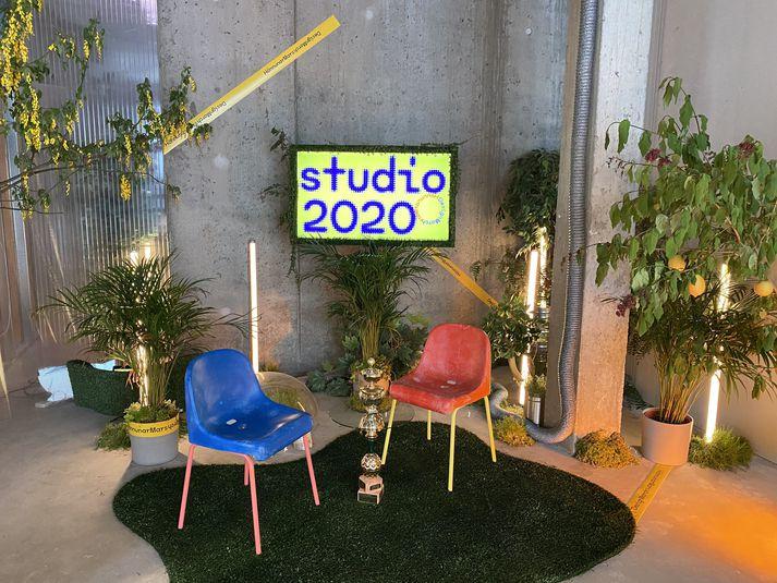 Settið hjá Studio 2020 á Hafnartorgi.