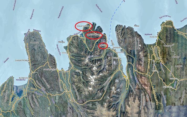 Sjúkrabíllinn þurfti að koma frá Dalvík, sækja sjúklinginn á Ólafsfjörð og flytja hann svo til Siglufjarðar. Það tók því rúman klukkutíma frá því að hringt var á Neyðarlínuna og þar til sjúklingurinn var kominn undir læknishendur.