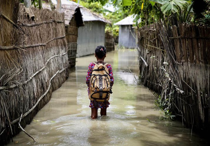 Ljósmynd frá Bangladess.