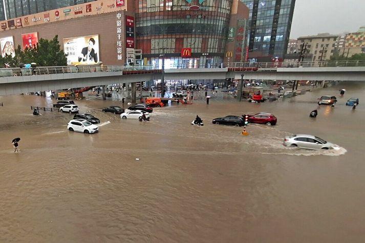 Þessi mynd er tekin í borginni Zhengzhou.