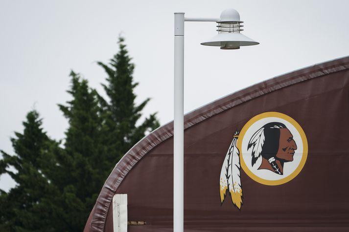 Fyrrverandi merki Washington Redskins.