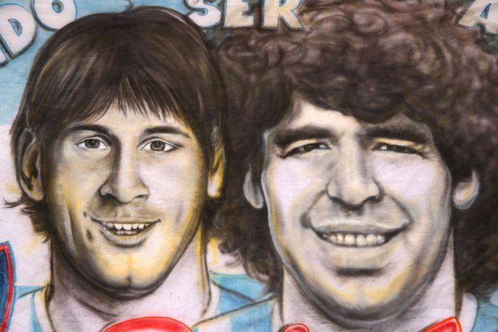 Messi og Maradona eru dáðustu synir Argentínu.