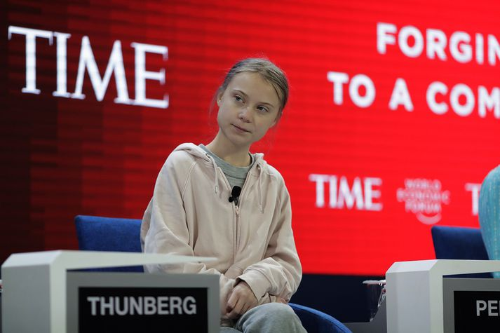 Greta Thunberg í Davos.