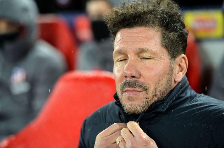 Diego Simeone er með tvo smitaða í sínum herbúðum.