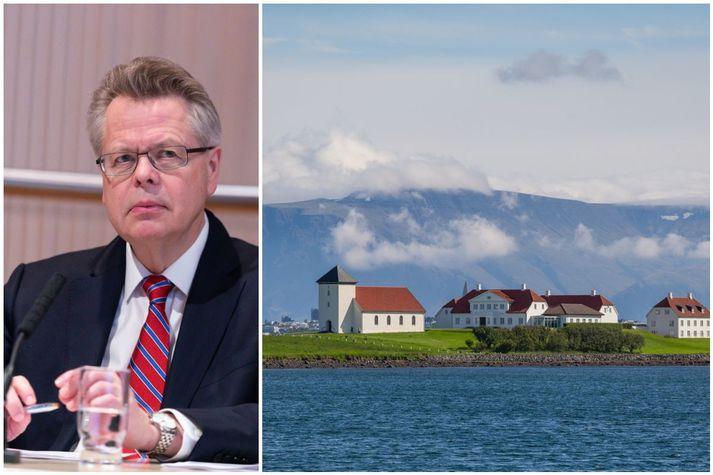 Már Guðmundsson var sæmdur fálkaorðunni í dag.