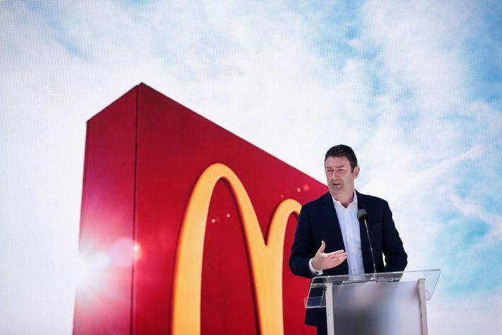 Steve Easterbrook tók við starfi forstjóra McDonald's árið 2015.