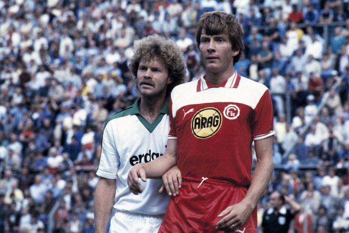Atli Eðvaldsson í leik með Fortuna Düsseldorf.