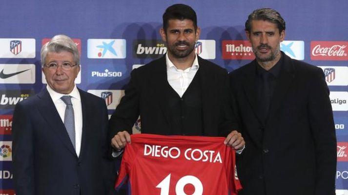 Costa er kominn heim, en hann fór frá Atletico til Chelsea árið 2014