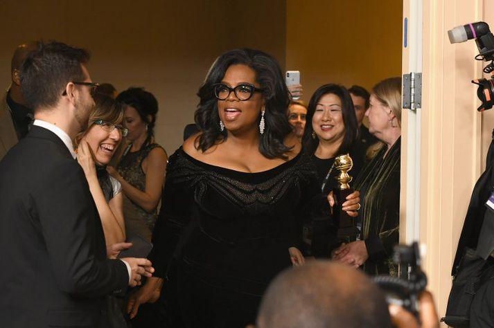 Oprah Winfrey stýrði á dögunum pallborðsumræðum um kvennabyltingu í Hollywood.