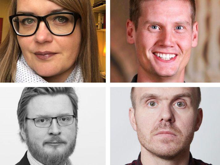 Donata H. Bukowska, Ingvi Hrannar Ómarsson, Óskar H. Níelsson og Örvar Ólafsson.