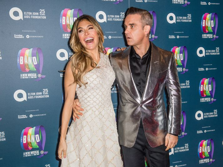 Hjónin Robbie Williams og Ayda Field