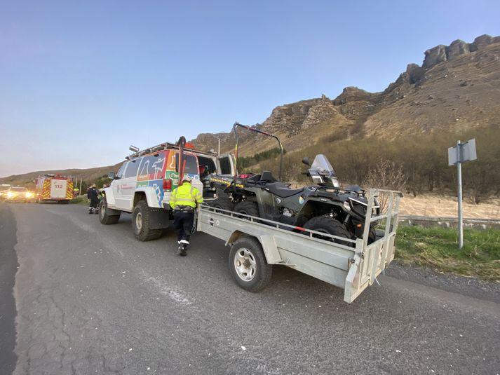 Straż pożarna z okręgu metropolitarnego brała udział w akcji ratunkowej nagórze Úlfarsfell