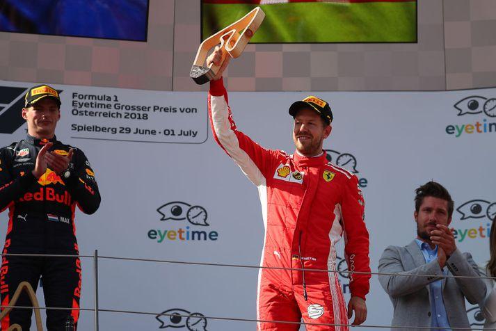 Vettel varð í þriðja sæti í Austurríki
