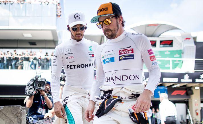 Alonso og Hamilton hafa samtals sjö sinnum orðið heimsmeistarar í Formúlu 1.