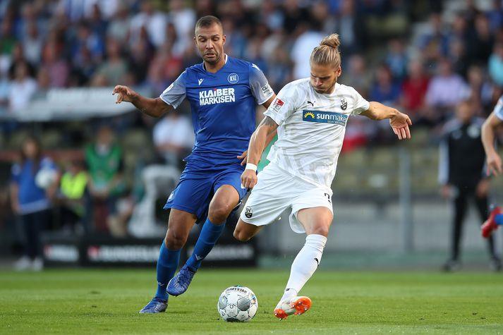 Rúrik í leiknum gegn Karlsruher.