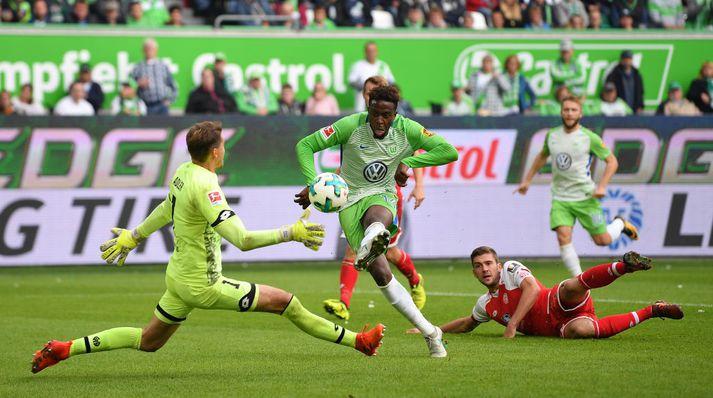 Origi í leik með Wolfsburg
