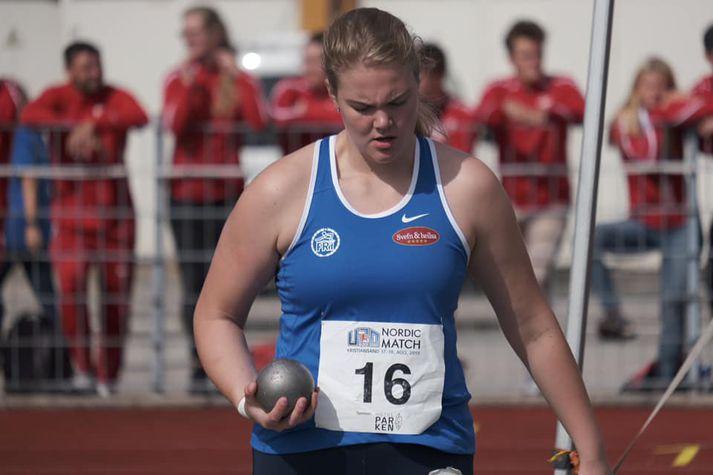 Norðurlandameistarinn Erna Sóley.