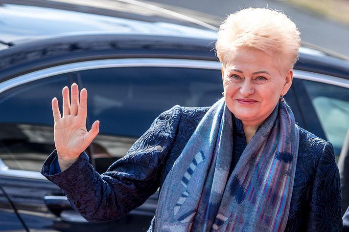 Dalia Grybauskaitė hefur gegnt embætti forseta Litháren frá árinu 2009.