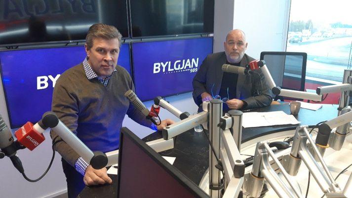 Bjarni Benediktsson og Logi Einarsson voru gestir á Sprengisandi í morgun.