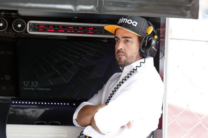 Fernando Alonso varð tvisvar sinnum heimsmeistari með Renault, liðinu sem hann ætlar að endurnýja kynnin við á næsta ári.
