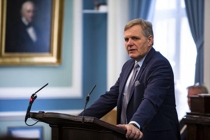 Jón Gunnarsson, varaformaður samgöngunefndarinnar.
