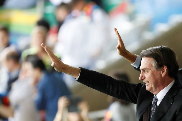 Bolsonaro segist hafa móðgast þegar Emmanuel Macron kallaði hann lygara.