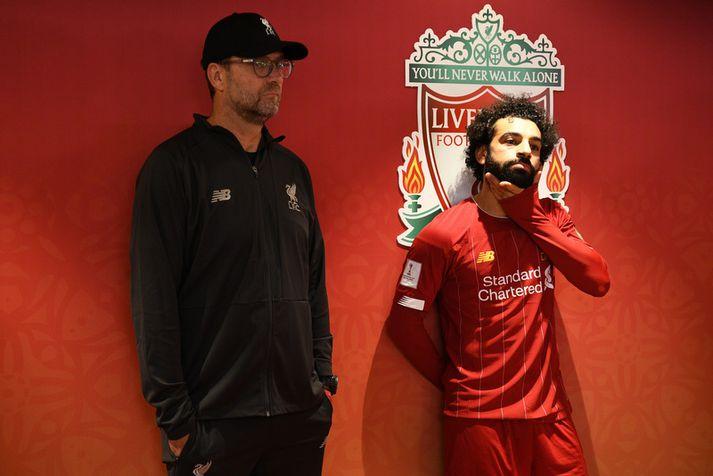 Jürgen Klopp og Mohamed Salah.
