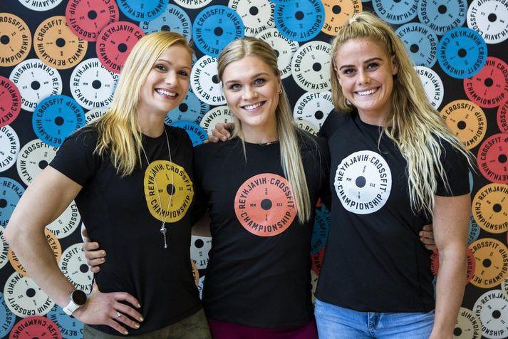 Annie Mist, Katrín Tanja og Sara keppa allar á heimsleiknum í ár.