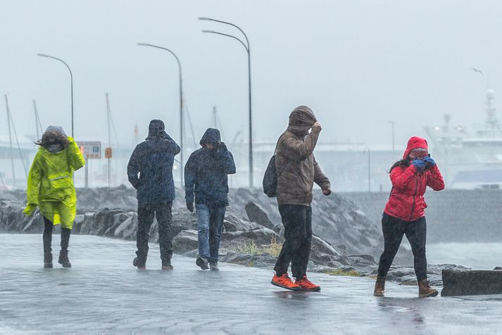 Það verður hvasst á höfuðborgarsvæðinu síðdegis í dag en lítið fer þó fyrir úrkomu.