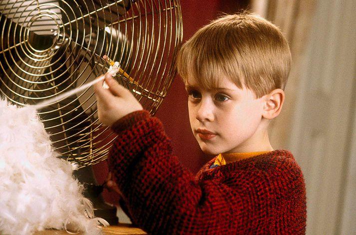 Macaulay Culkin í Home Alone.