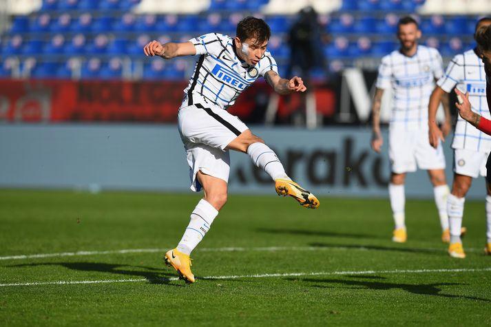Barella var hetja Inter í dag.