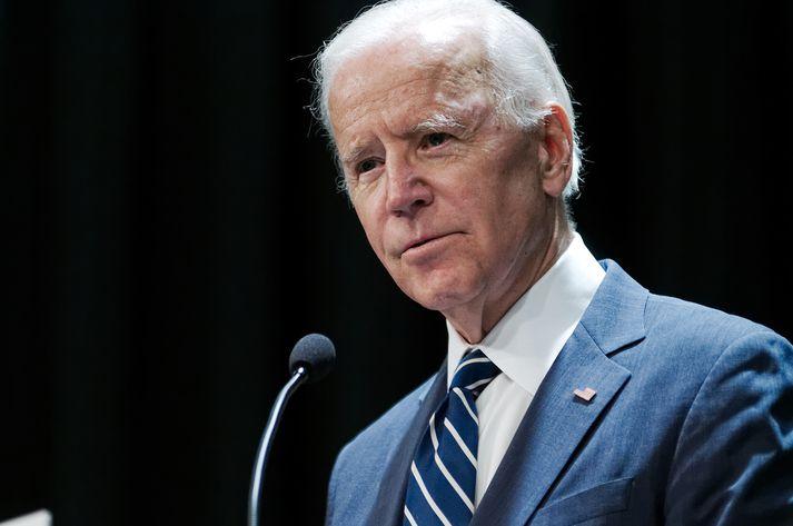 Joe Biden býður sig fram til forseta Bandaríkjanna.
