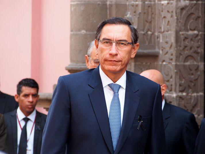 Martin Vizcarra tók við embætti forseta í mars 2018.