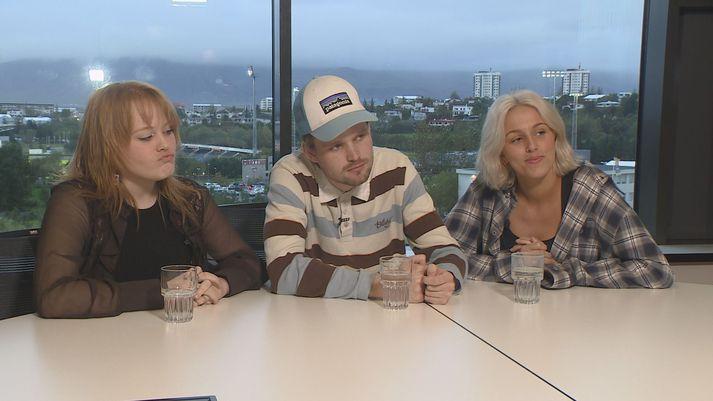 Katla Njálsdóttir, Kolbeinn Sveinsson og Berglind Alda Ástþórsdóttir eru álitsgjafar unga fólksins.
