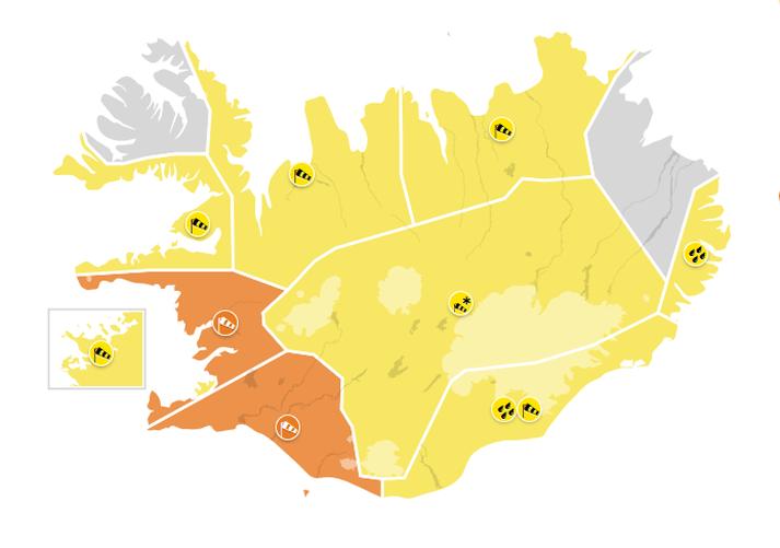 Óveður verður víða á landinu í dag.