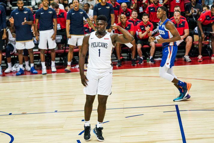 Augu manna verða á Zion Williamson á komandi NBA-tímabili.